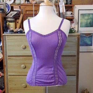 Va va voom! Vintage purple lace camisole GB1